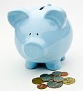 Blue Piggy Bank With Coins - Retirement by Ken Teegardin, on Flickr. Attribution-ShareAlike 2.0 Generic (CC BY-SA 2.0)